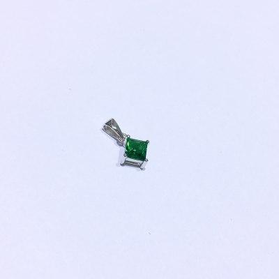 千惑 S925银合成立方氧化锆吊坠