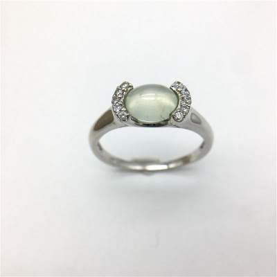 幸福拥抱 S925银葡萄石戒指