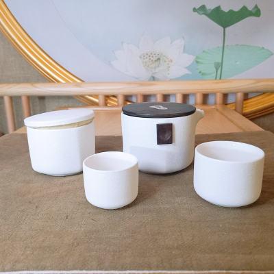 银瓷道 足银本色茶具-旅行便携套装 陶瓷镶嵌足银 茶具套装