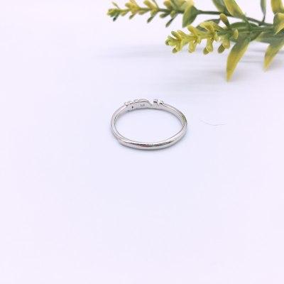 最美情话S925银素银戒指