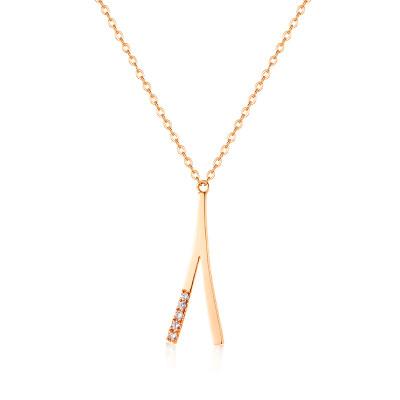 幸福许愿系列18K金玫瑰色钻石套链