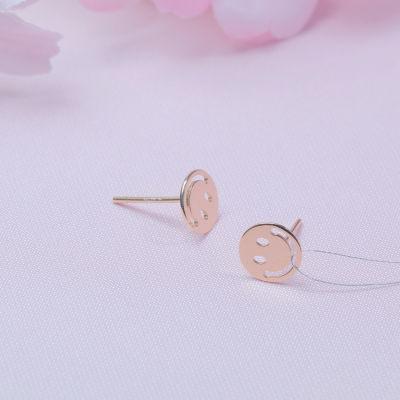 爱情如诉AU750金玫瑰色素金耳钉