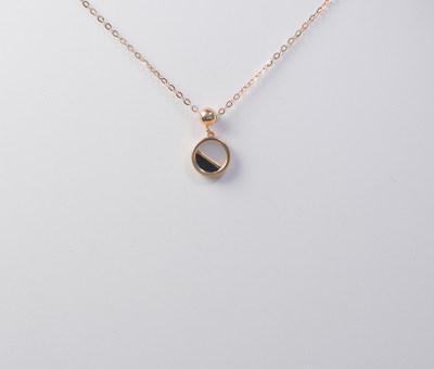 AU750金玫瑰色贝壳套链
