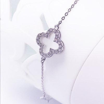 幸福珠宝专柜正品 幸福感悟微幸福微幸福AU750金白色钻石手链
