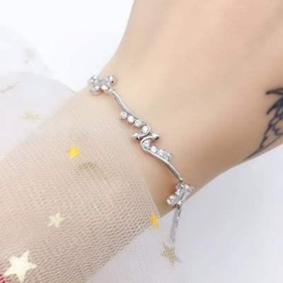 梦花韵 S925银合成立方氧化锆手链