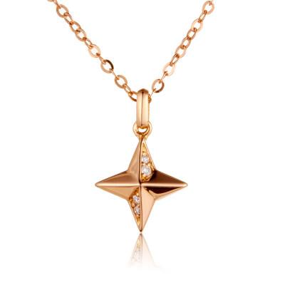 幸福梦想 AU750金玫瑰色钻石吊坠