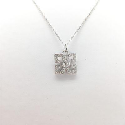 幸福之源-18K金钻石套链时尚百搭清新字母元素原创项链女士珠宝