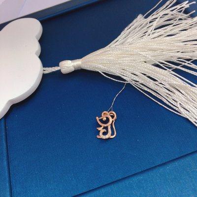 幸福小Q—玫瑰金钻石吊坠(老鼠)