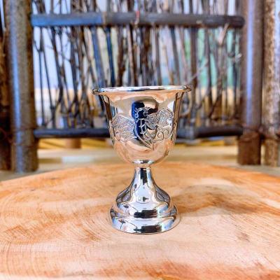 冠爵-足银本色酒具-福字酒杯