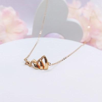 信德缘幸福城市专柜正品18K玫瑰金项链送闺蜜送女友送老婆