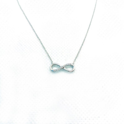 幸福无限18k金白色钻石套链