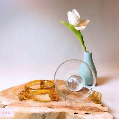 银玻艺 银与玻璃组合龙头茶漏