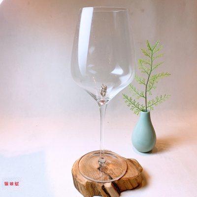 银玻赋 银与水晶玻璃组合高脚红酒杯