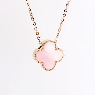 幸福珠宝专柜正品 幸福感悟微幸福18K金玫瑰色钻石套链