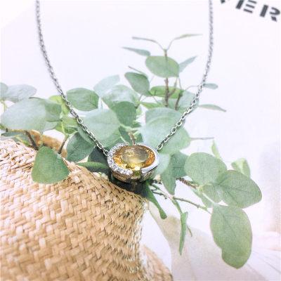 S925银天然黄晶套链