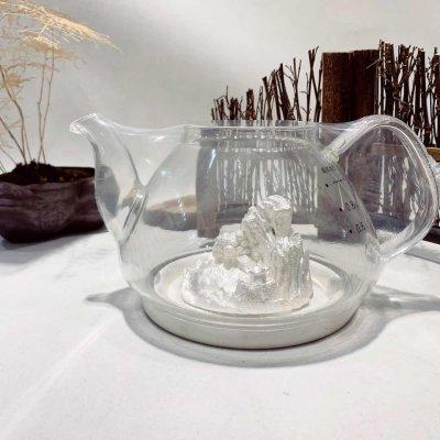 天官赐足银玻璃养生银壶-武夷山系列赠电陶炉套装