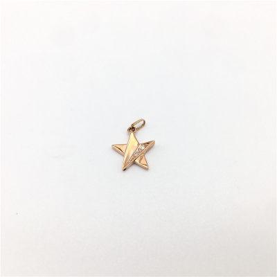 幸福希望-AU750金玫瑰钻石镶嵌吊坠