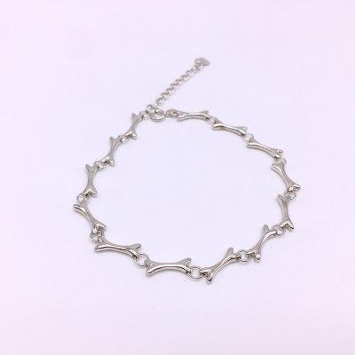 美银物语S925银素银手链