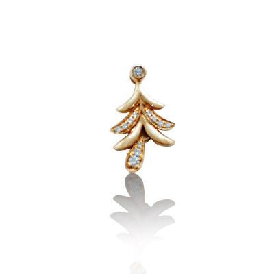 幸福圣诞 18K金钻石吊坠