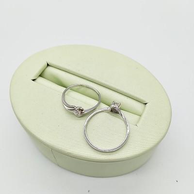 s925银电白合成氧化锆戒指
