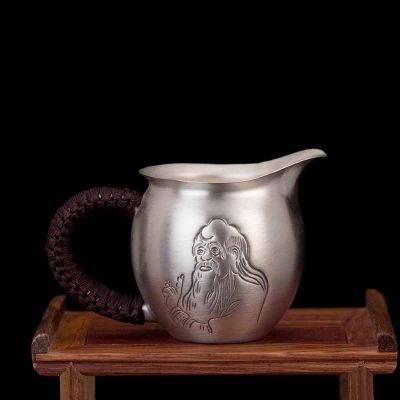 道之赋-足银本色茶具礼品·老子公道杯功夫茶具银茶杯滤茶杯银壶分茶器 送长辈领导朋友礼物