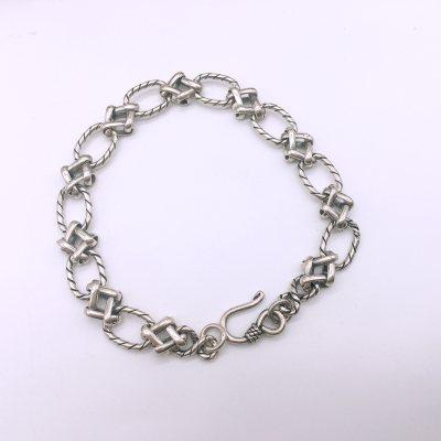 酷圣S925银素银手链