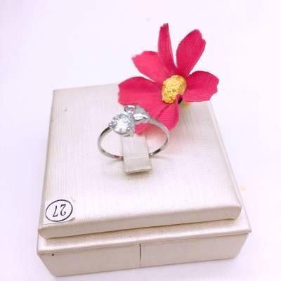 s925银合成立方氧化锆石戒指
