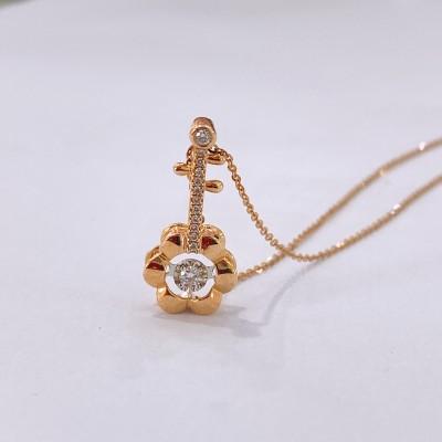 幸福雅好 专柜正品 18K玫瑰金钻石套链