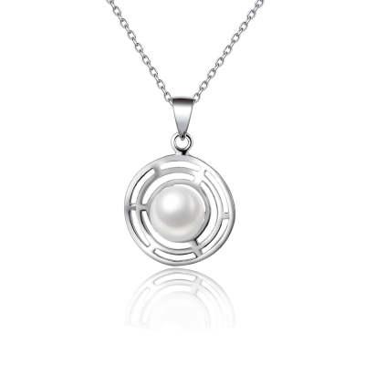 S925银电白珍珠吊坠