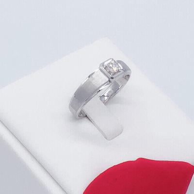 幸福英雄18K金白色钻石戒指