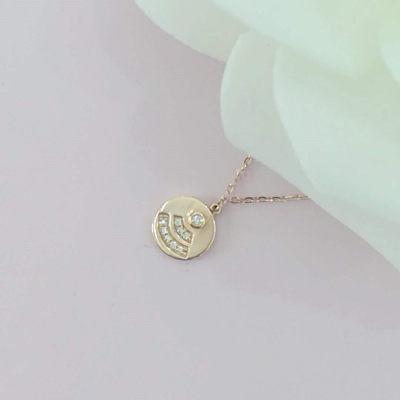 幸福表达 18K玫瑰色钻石 套链