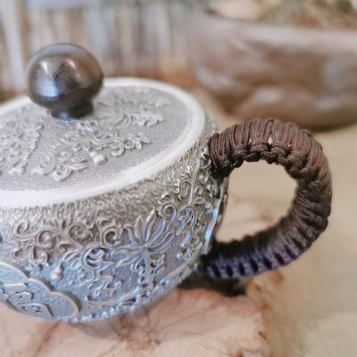 匠义-足银仿古茶具-葫芦泡茶壶
