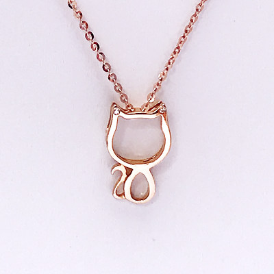 幸福珠宝专柜正品幸福感悟幸福千面爱情七十二变AU750金玫瑰色钻石套链送女友闺蜜