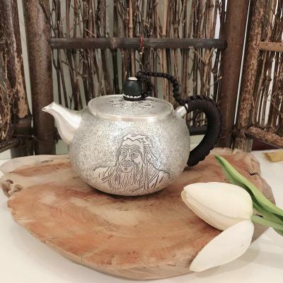 匠义-足银本色檀木茶具-孔子泡茶壶