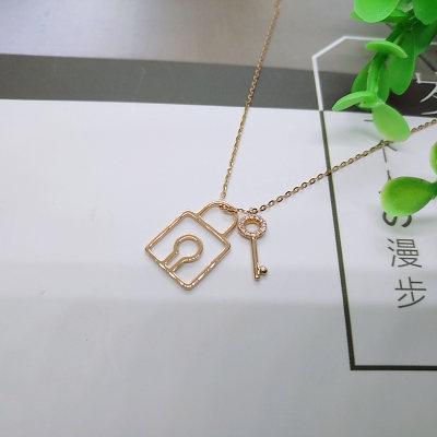 幸福之锁 18K金 钻石项链