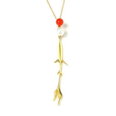 幸福天涯18k金 套链 黄色珍珠套链