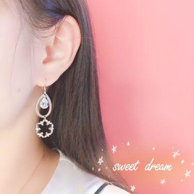 爱情模样 S925银合成立方氧化锆耳坠