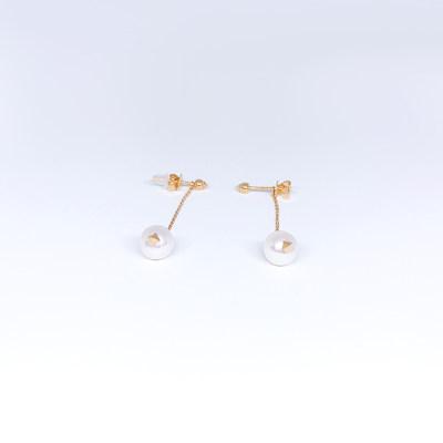 幸福真谛18玫瑰色珍珠耳钉