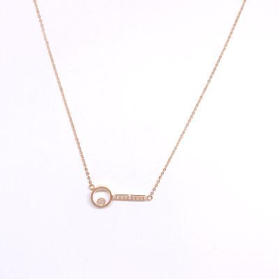 鄂金匠18K金玫瑰色钻石套链-005款式