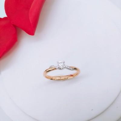 信德缘幸福婚嫁 钻石女戒 戒指求婚结婚 专柜正品钻戒分色18K金