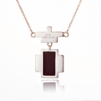 幸福百乐-AU750金白色玛瑙套链