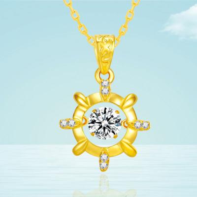 幸福海洋-灵动系列3D24K硬金项链 送女友送老婆送闺蜜