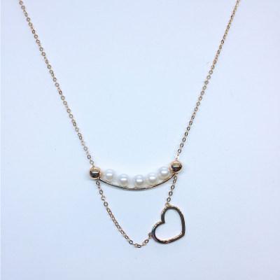 幸福积分 18K珍珠项链(心形)