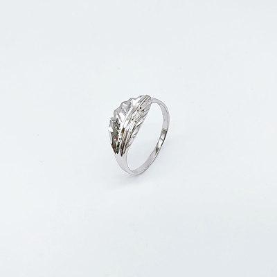 落花情 S925银电白素银戒指