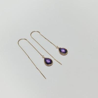 千惑 S925银合成立方氧化锆耳线