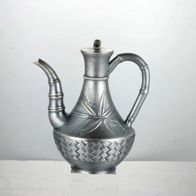 银酒赋-足银仿古酒具-竹风酒壶