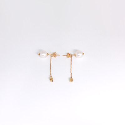 幸福真谛18K金玫瑰色珍珠耳钉
