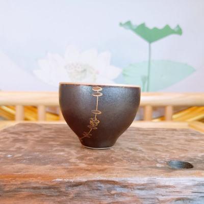 银瓷康 足银本色茶具茶杯-铁陶茶杯 瓷包银茶杯 主人杯 品茗杯 纯银茶杯