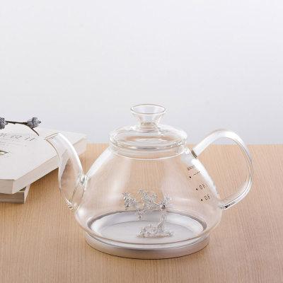 天官赐玻璃足银镶碧玺养生银壶-硕果累累系列赠电陶炉套装