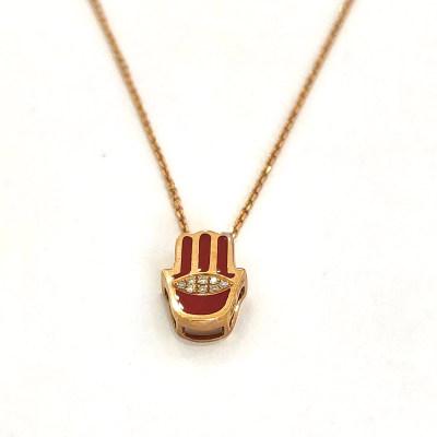 幸福之眼专柜正品 18K金钻石烤彩套链 日常穿搭必备